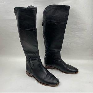Like New-Franco Sarto Roxie Black Flat Boot Size 8